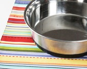 Dog Placemat - Colorful Stripes - Large Size