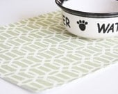 Pet-Mat - the Placemat for your Dog or Cat's Bowl - Hexagons: Small Size VERY LAST in this GREEN