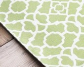Fabric Placemats - Green with White - Set of 4