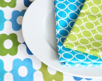 Placemats  - Green and Blue Design - Perfect for Spring and Summer