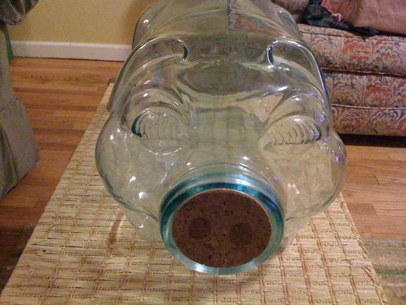 Large Glass Pig Jar by Libbey
