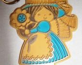 Vintage Hallmark Girl Keychain