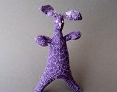 Funny Bunnies -  Purple Swirls Bunny - Plush Toy - Easter Basket Item