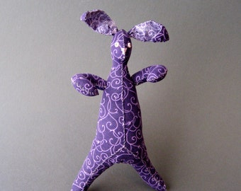 Funny Bunnies -  Purple Swirls Bunny - Plush Toy - Easter Basket Item