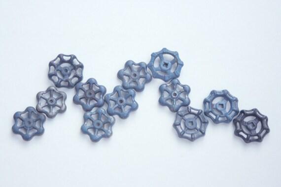 Blue Garden Faucet Knobs