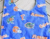 Florida Gators Bib with Green Minky