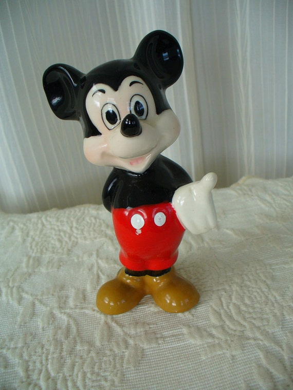 Vintage Ceramic Mickey Mouse Figurine - Disney Collectible