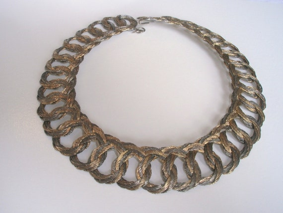 Woven Necklace LIQUID METAL - Gold and Silver