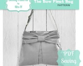 The bow pleat handbag purse bag PDF sewing pattern - Instant Download
