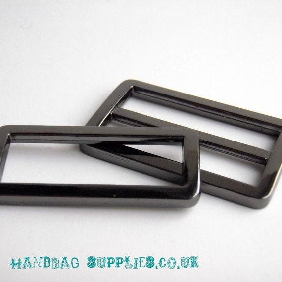 """1.5"""" Gunmetal triglide slider & buckle for adjustable straps"""