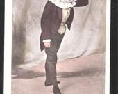 Court Jester Clown Theatre Stage Comedian old antique vintage postcard