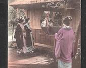 ANOTHER Beautiful Japan Japanese old antique vintage girl geisha postcard
