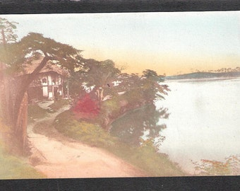 ANOTHER Beautiful Japan Japanese old antique vintage scene postcard