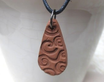 Terracotta Spiral Necklace
