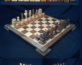 Chess Set Duck Hunters Chess Set on etsy handmade by Jim  ArnoldsChessSets
