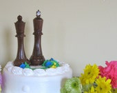 Special Listing for K, custom sized chess piece wedding cake toppers