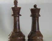 Chess Piece Wedding Cake Toppers handmade on etsy by Jim ArnoldsChessSets