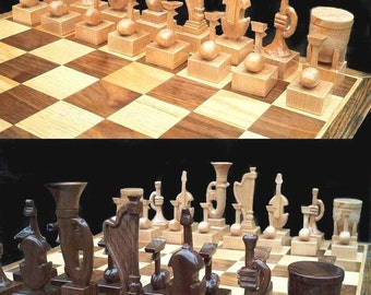 Chess Set Instrumental Chess Set on etsy handmade themed    chess sets  hand carved