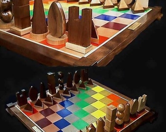 Chess Set Handmade Chess Set on Etsy, custom carved chess pieces   Celebrates the Science of Sir Isaac Newton