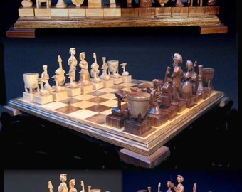 Holiday Special!!!  Chess Set Orchestral Chess Set on etsy handcarved  chess  sets, custom chess sets, custom chess pieces,