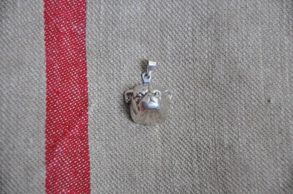 Wonderful vintage Tiffany & Co sterling Bulldog pendant or charm, large