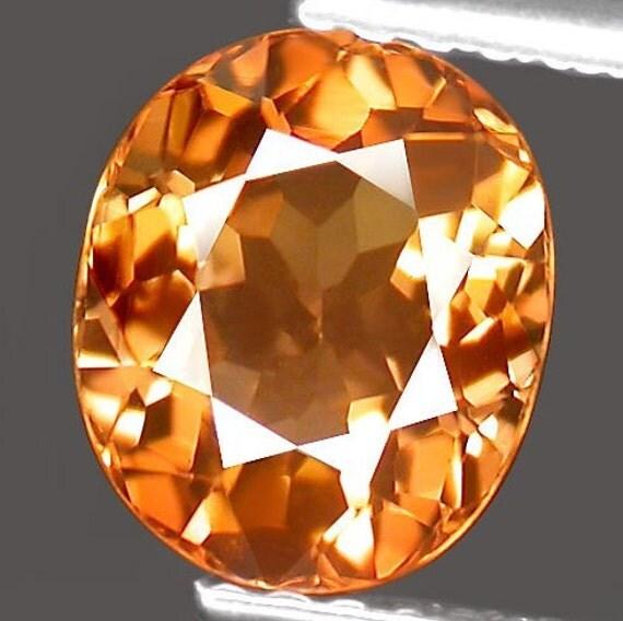 Reserved for Kathleen Brilliant Golden Orange Tourmaline Oval 8 x 7 MM  1.96 Carat. Mozambique