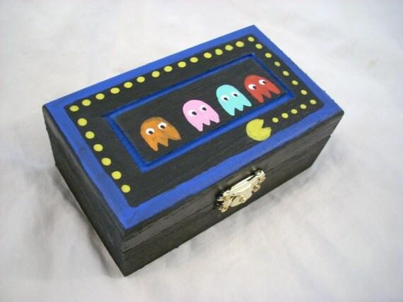 Pac Man & Ghosts Handpainted Keepsake Box