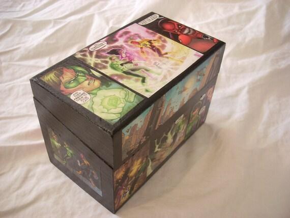 Green Lantern Comic Recipe Keepsake Box