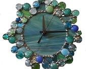 Small Sea Foam Green Clock