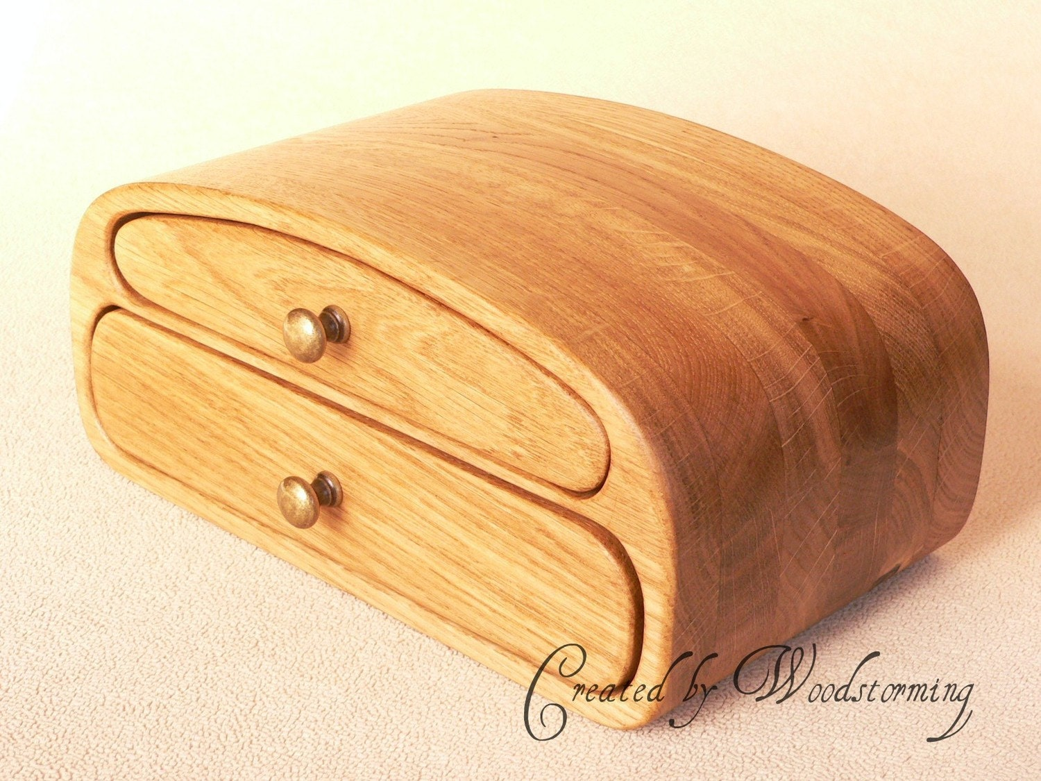 Wooden handmade jewelry box reserved for christian for Handmade wooden jewelry box