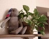 Gray stuffed bunny