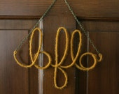 Mustard Bflo Wall Hanging by AFineTangle