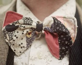Patchwork Clip On Bow Tie