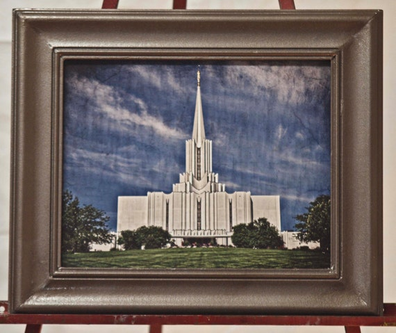 11x14 Framed print of the Jordan River , Utah temple