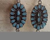 Turquoise Charm Earrings with Beads