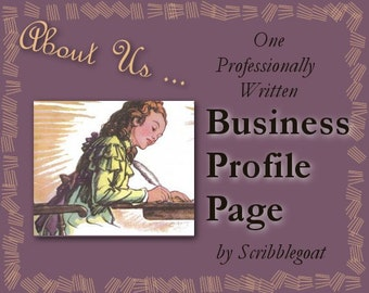 About Page Personalized to Your Business -- Show Your Personality and Earn Customer Loyalty On Any Website