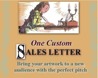 Sales Letter for Your Products -- Personalized Pitch for Selling Your Art