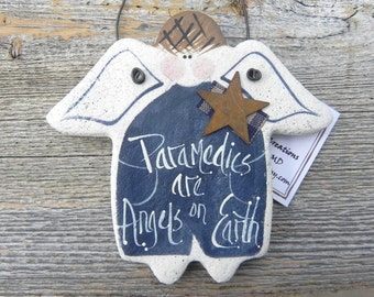 Paramedic Gift Ornament Salt Dough Angel Ornament
