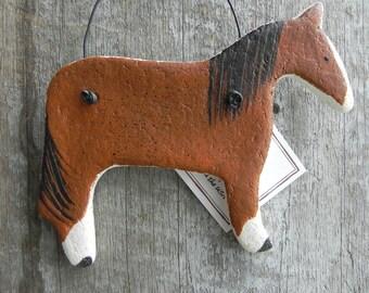 Chestnut Horse Salt Dough Ornament