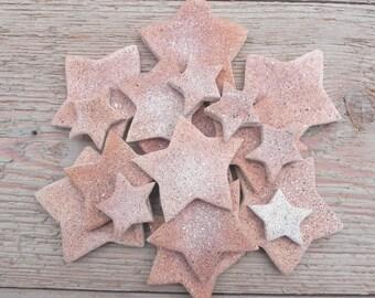 Cinnamon Mini Salt Dough Stars Wholesale Collection of 10 Star Ornaments