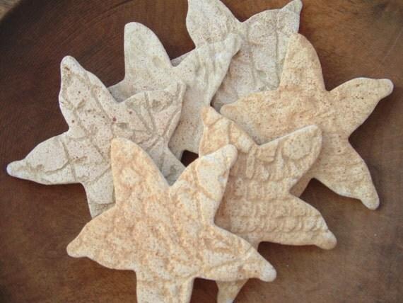 Starfish Bowlfiller Salt Dough Ornaments (12) Nautical Sea Star / Beach Decorations