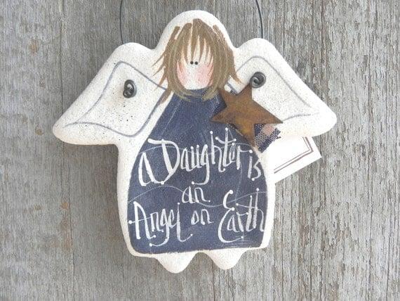 Daughter Salt Dough Angel Hanging Gift Ornament