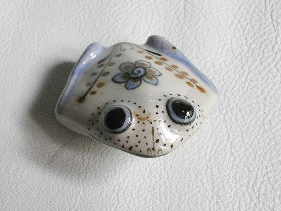Mexico, Vintage, Ceramic, Baby Frog, Figurine - EVE