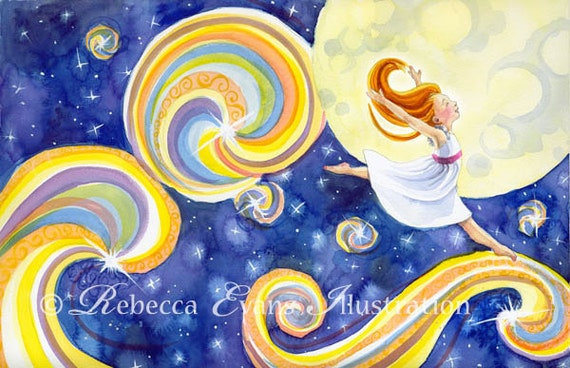 Art Print of Girl Dancing with the Stars 13x19
