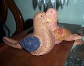 Primitive Bird Shelf Sitter Pin Cushion
