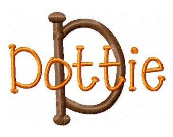 INSTANT DOWNLOAD - Machine Embroidery Font Dottie - Monogram Alphabet Design