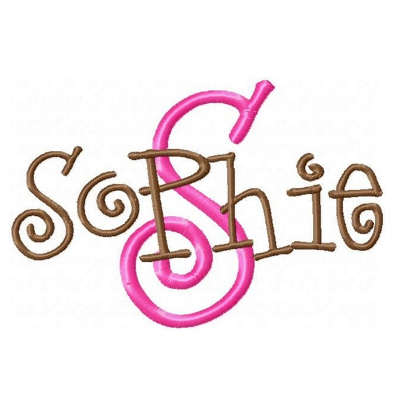 Instant download sophie machine embroidery font monogram