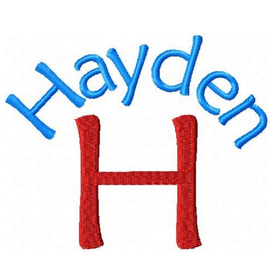 INSTANT DOWNLOAD --  Machine Embroidery Font  Hayden --  Monogram Alphabet Design