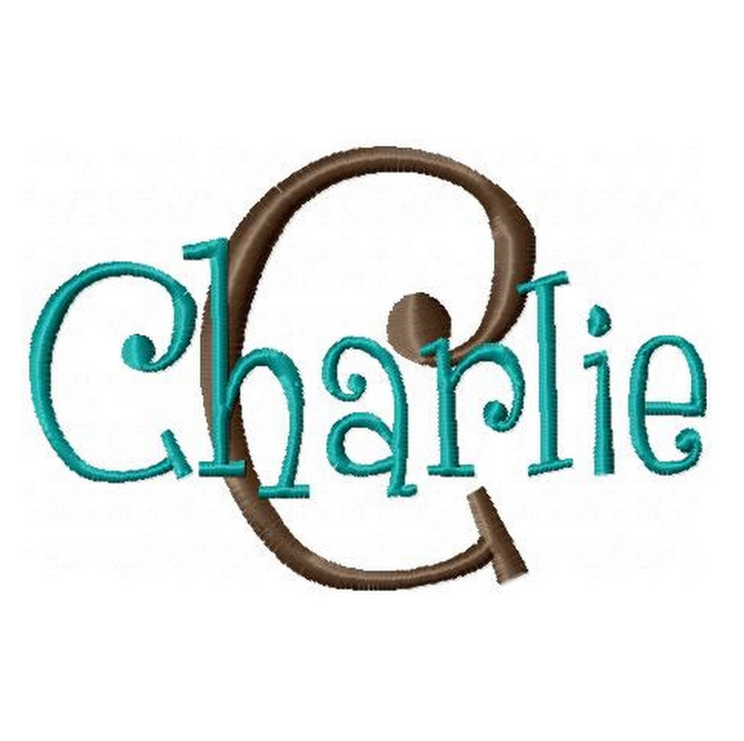 Instant download machine embroidery font charlie