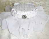 Wedding Ring Bearer Box Pillow with Swarovski Crystals or Pearls, Wedding Accessories, Custom Made to Order